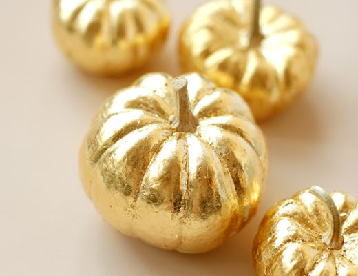 Friday Five gold leaf pumpkins