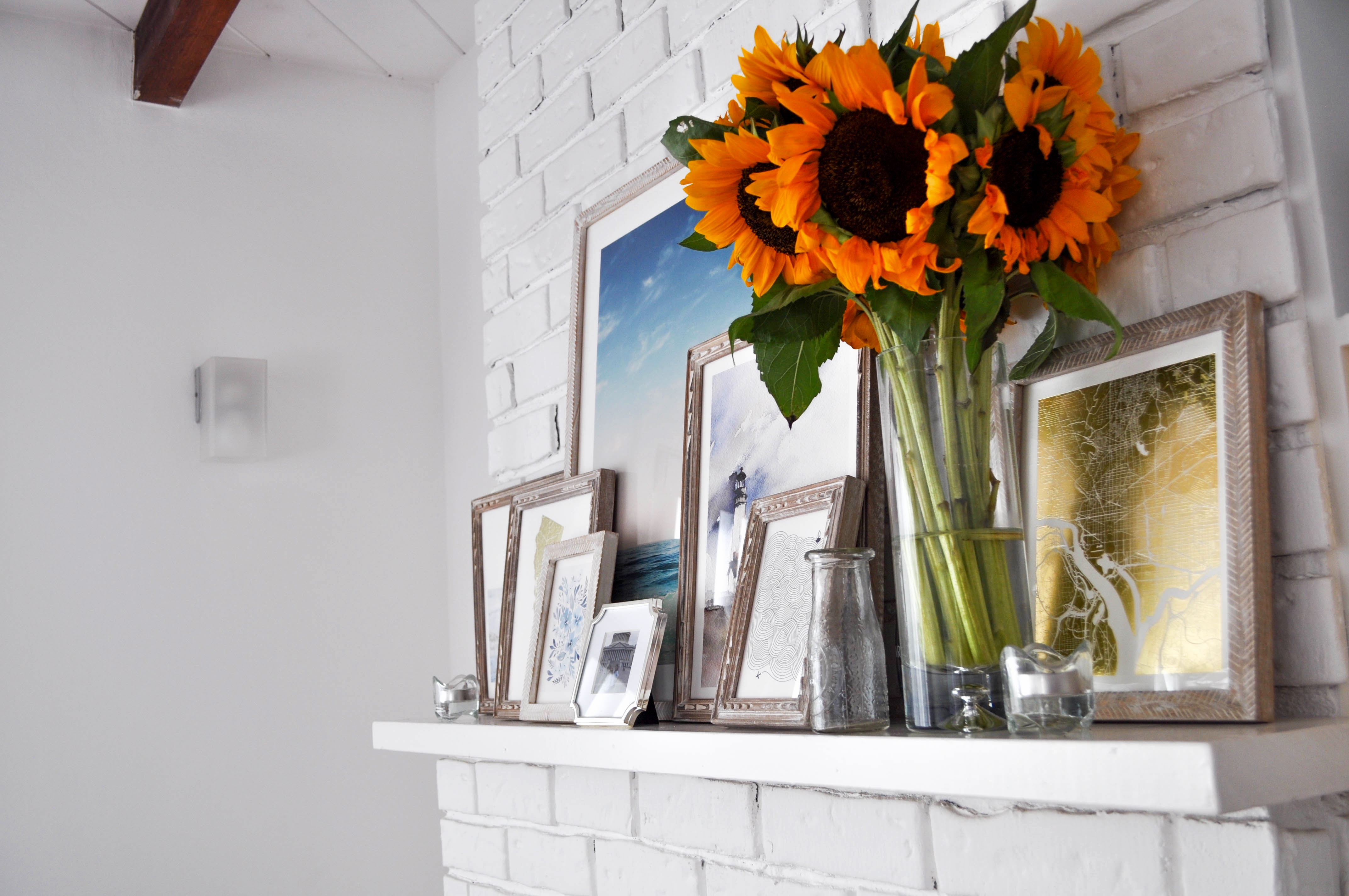 gallery wall with Minted
