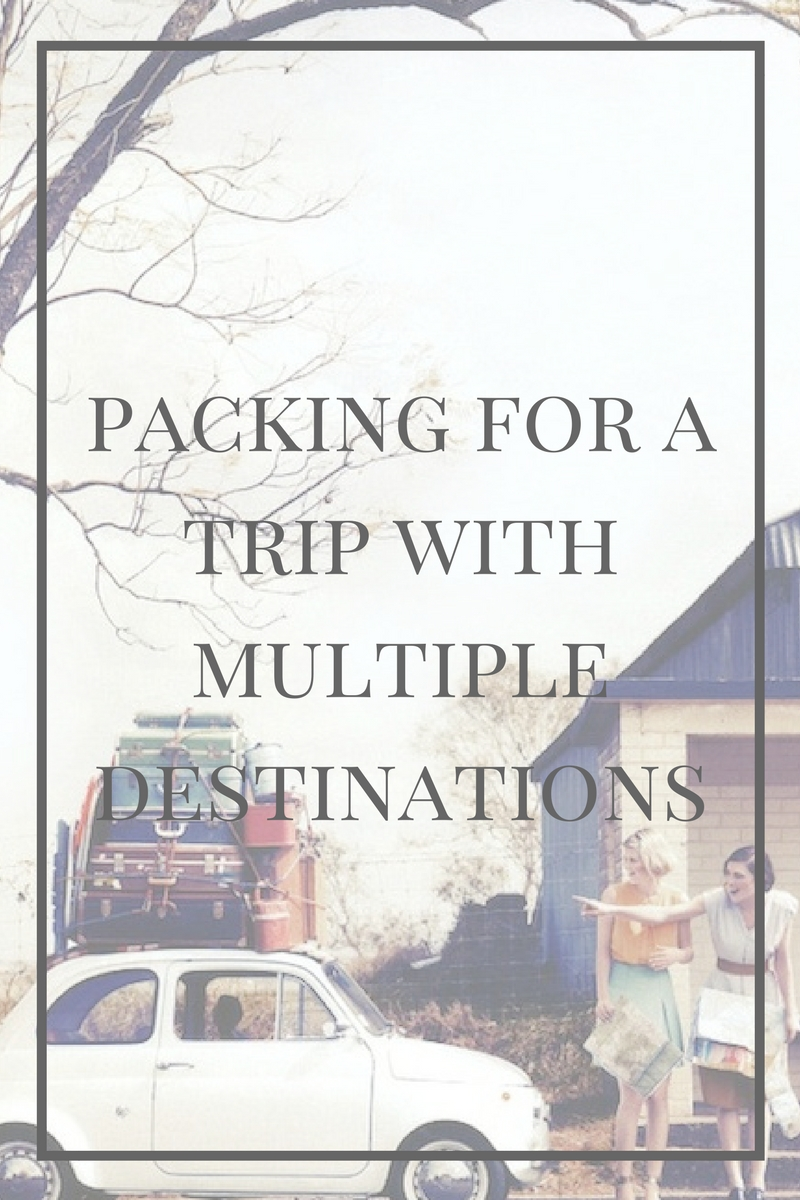 Packing for a Trip with Multiple Destinations
